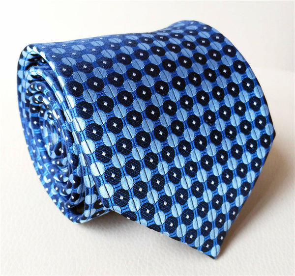 Azul Patterned Silk Tie - Men's Neckties - Pandora's Locket