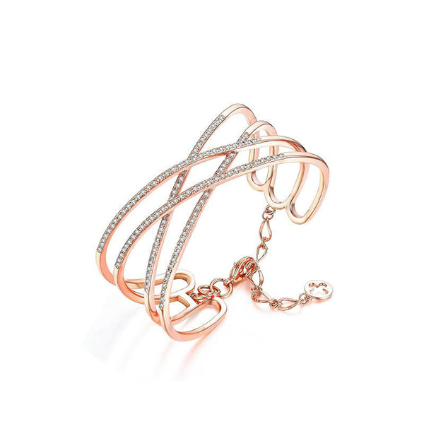 Crossover Bangle - Women's Bracelets - Pandora's Locket