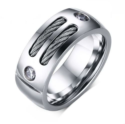 Brinton Cable Wire Ring - Men's Rings - Pandora's Locket