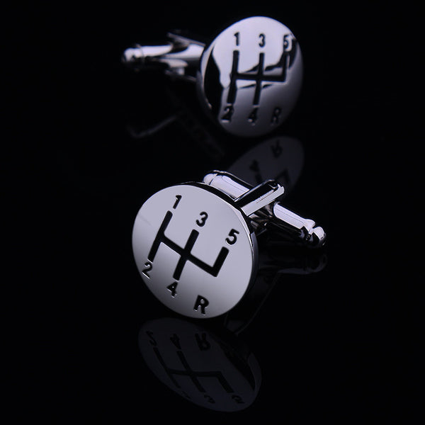 Car Gear Cufflinks - Men's Formal Accessories - Pandora's Locket
