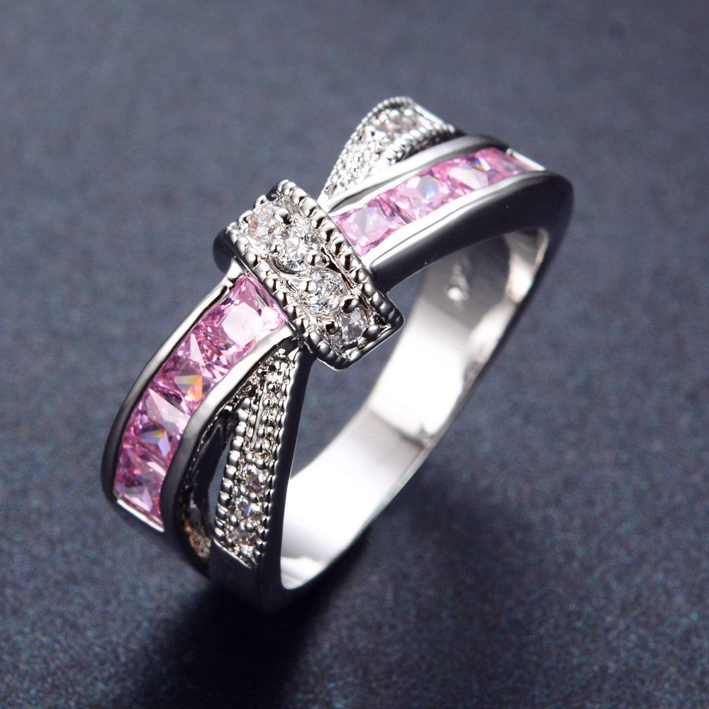 jewelry created rhodium rings nickel com sapphire solitaire amazon pink finish sterling ring to sizes carats dp silver