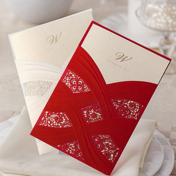 Ribbons and Lace Invitation Cards - Invitation Cards - Pandora's Locket