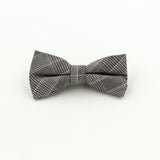 Jacquard Bow Tie and Pocket Square - Grey with Stripe - Bow Ties and Pocket Squares - Pandora's Locket