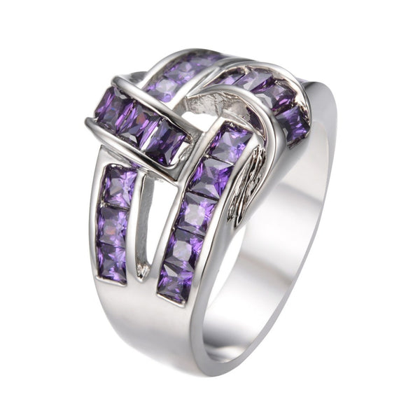 All in Knots Amethyst Ring - Women's Rings - Pandora's Locket