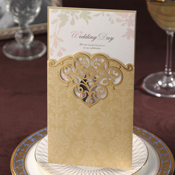 Ambrosia Gold Invitations - Invitation Cards - Pandora's Locket