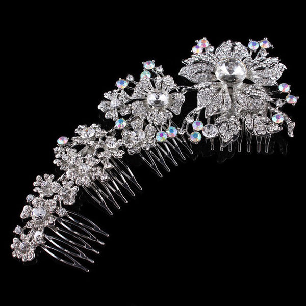 Linked Adjustable Crystal Hair Comb - Hair Jewelry - Pandora's Locket