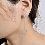 Star and Moon Dangle Earrings - Women's Dangle Earrings - Pandora's Locket