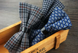 Plaid Wool Bow Tie - Men's Bow Ties - Pandora's Locket