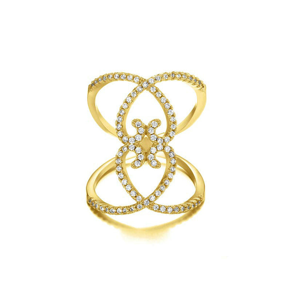 Prima Studded Ring - Women's Rings - Pandora's Locket