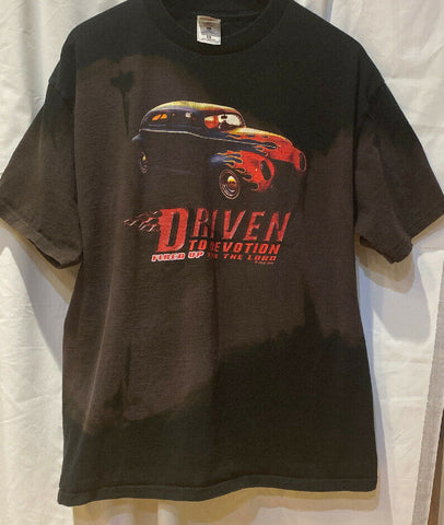 "Fruit of the Loom T-Shirt XL ""Driven to Devotion Fired Up for the Lord"" RARE - 	Golden Gate Emporium"