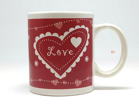 Just for you Ceramic Coffee Mug Valentine's Cup Dinnerware Collection - 	Golden Gate Emporium