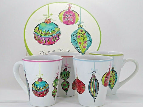 Rosanna Christmas Ornaments Deck The Halls Dinnerware Collection - 	Golden Gate Emporium