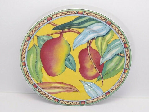 Andrea by Sadek Salad Plate Trade Winds Artist Siddhia Hutchinson Tropical Fruit - 	Golden Gate Emporium