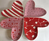 Boston Warehouse Set of 4 Wall Hanging Plates Home Decor Heart Shaped - 	Golden Gate Emporium