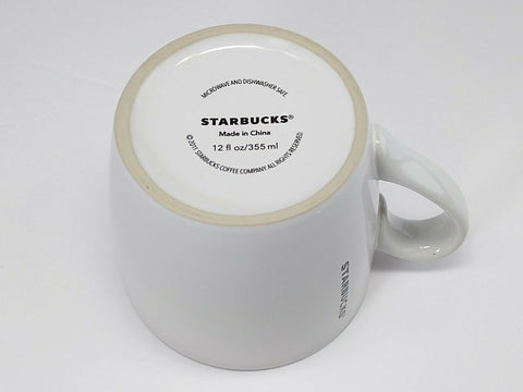 Starbucks 2011 Ceramic Coffee White Mug Sweet Red  Heart 12oz Red Interior - 	Golden Gate Emporium