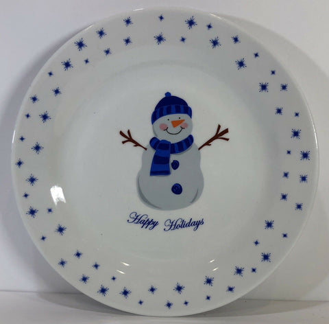 Happy Holidays Salad/Dessert Plate By Pacific Island Creation Co. Ltd. - 	Golden Gate Emporium