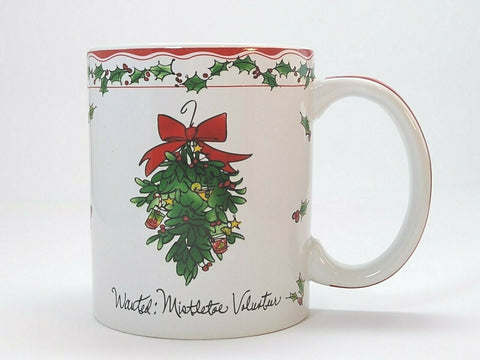 Martha Collins Holiday Ceramic Coffee Mug Christmas Tea Cup Certified Int'l. - 	Golden Gate Emporium