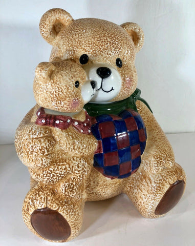 "Bear Ceramic Cookie Jar by CKA Kitchen Counter Canister 10 1/2"" H"