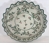 Rare Hand-Painted Chip and Dip Holly & Berries (Plate & Bowl)-Mesa International - 	Golden Gate Emporium