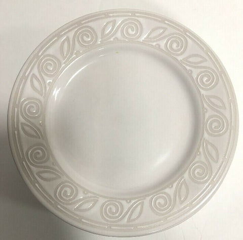 "Gibson Designs ""AMARETTO"" Set of 4 Salad Plates Oven Safe Embossed 7 7/8"""