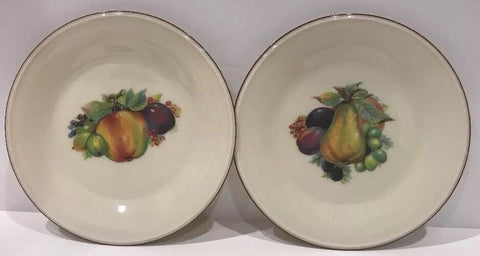 "Lenox Special Set of 4 Salad Plates 8 1/8""D- Fruit Design - 	Golden Gate Emporium"