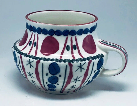 Anthroplogie Hand Painted Ceramic Mug Coffee Cup - 	Golden Gate Emporium