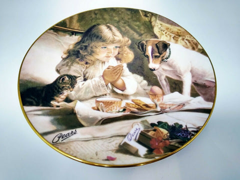 """Suspence"" Decorative Plate Charlie Burton Barber 1845-1894  Victorian Paintings - 	Golden Gate Emporium"
