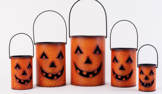 180° Nested Pumpkin Can Lantern, Set/5, Metal, 4- 8""