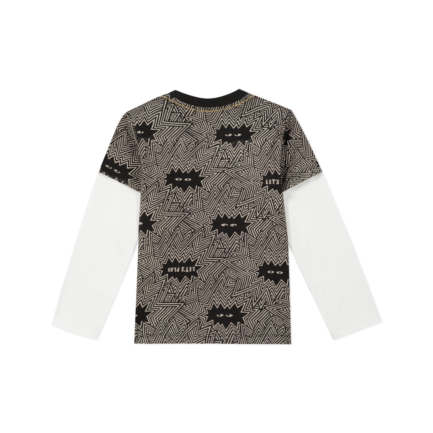 Catimini Boy Long Sleeve T-shirt with Little Monster Face
