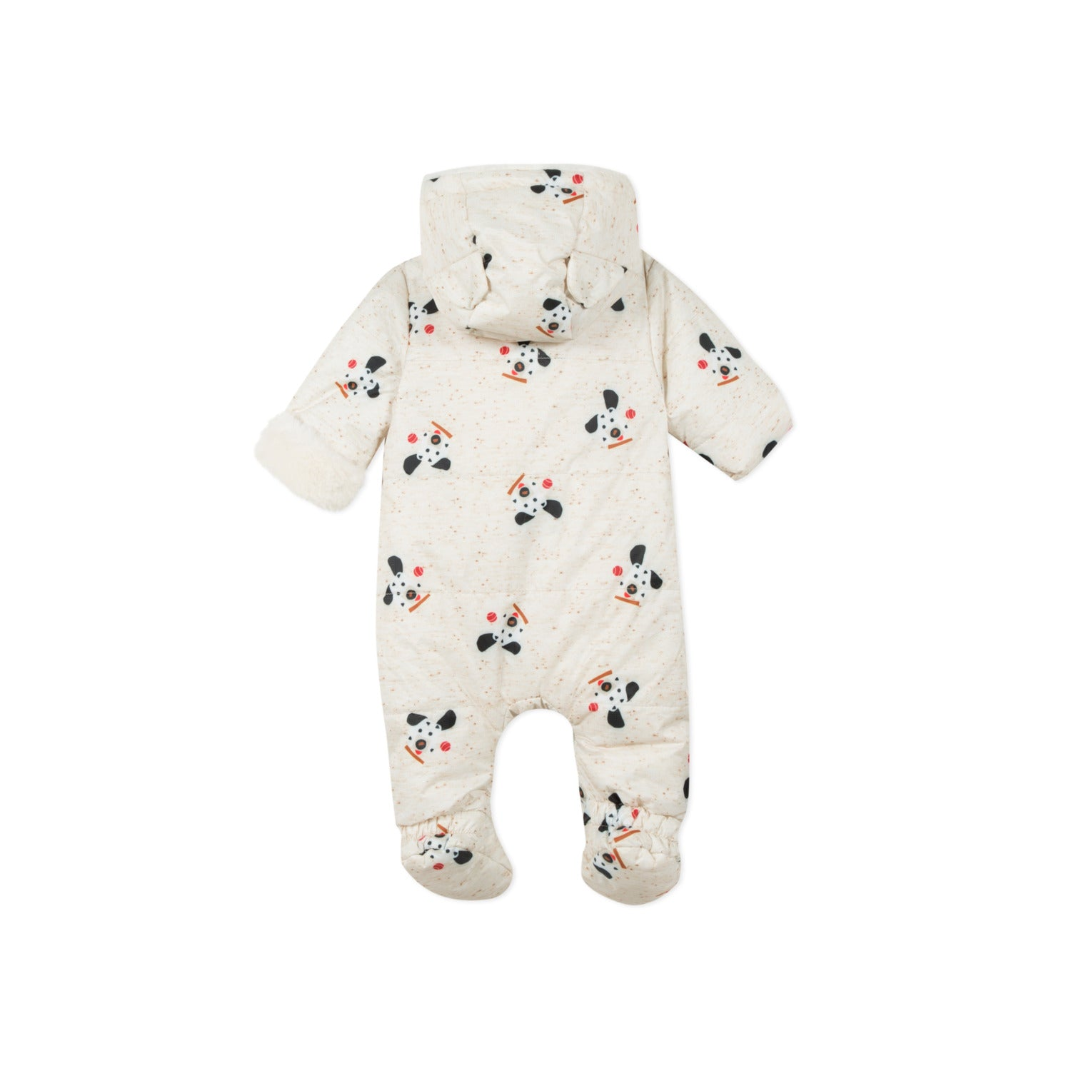 Catimini Baby Faux Fur Lined Puppy Print Hooded Snowsuit