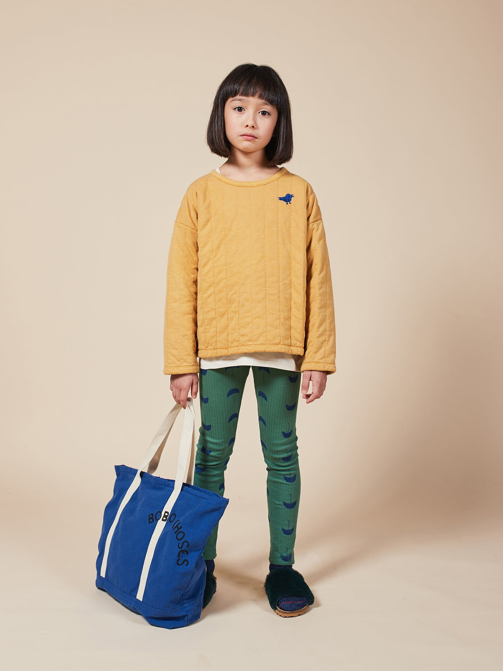 Bobo Choses Bird Tuner Quilted Sweatshirt