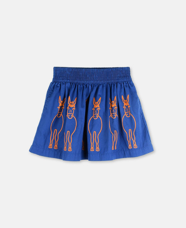 Stella Mccartney Nat Girls Donkey Embroidered Skirt