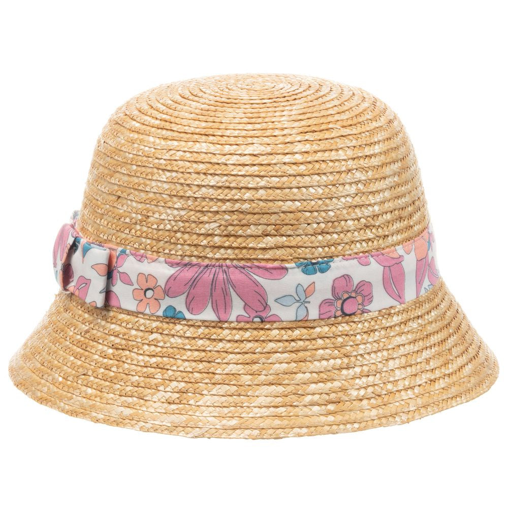 Chloé Straw Hat with Flower Stripe