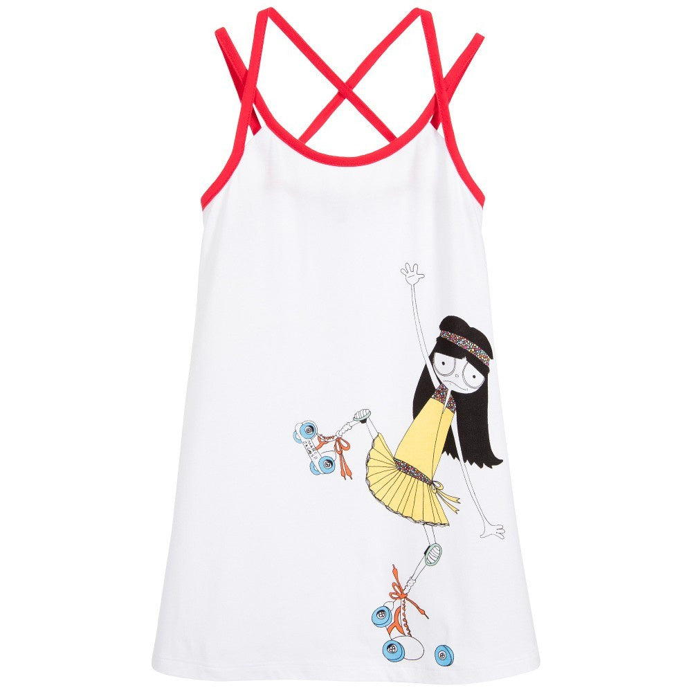 Little Marc Jacobs White Jersey Dress