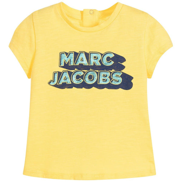 Little Marc Jacobs Baby Girl Yellow T Shirt