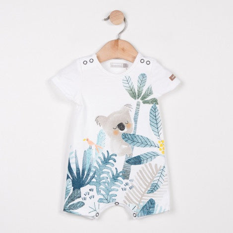 Catimini Short Jersey Jumpsuit with Koala