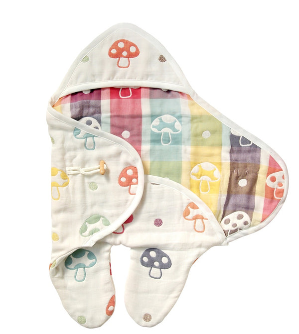 Hoppetta Champignon Baby Swaddle Footed Newborn to 6 mo