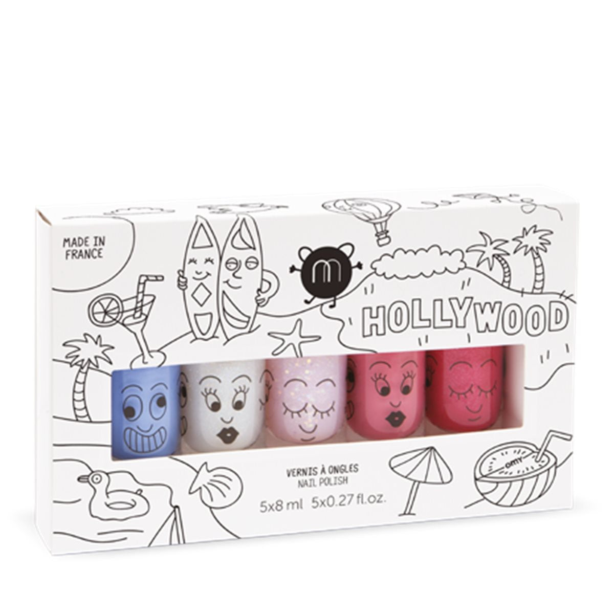 Nailmatic HOLLYWOOD Set of 5: Kitty,Polly,Bella,Gaston,Super