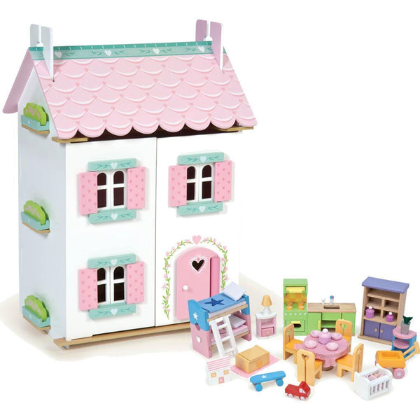 Le Toy Van Sweetheart  Cottage with Furnitures