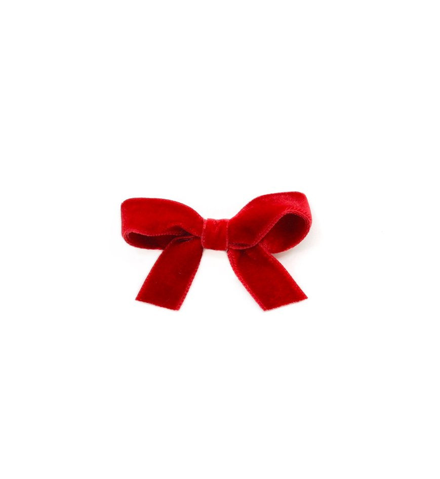 Olilia Designs Clip Velvet Bow Small