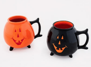 180° Pumpkin Mug, Ceramic, 4.5""