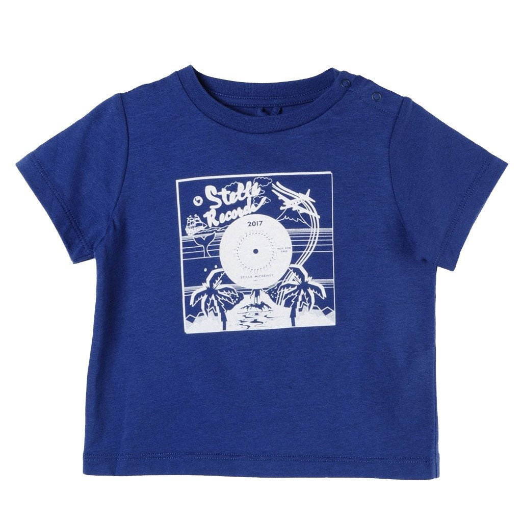 Stella McCartney Kids Chuckle Tee with Record Print