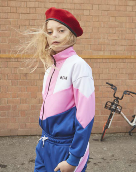 MSGM Pink Zip up Jacket