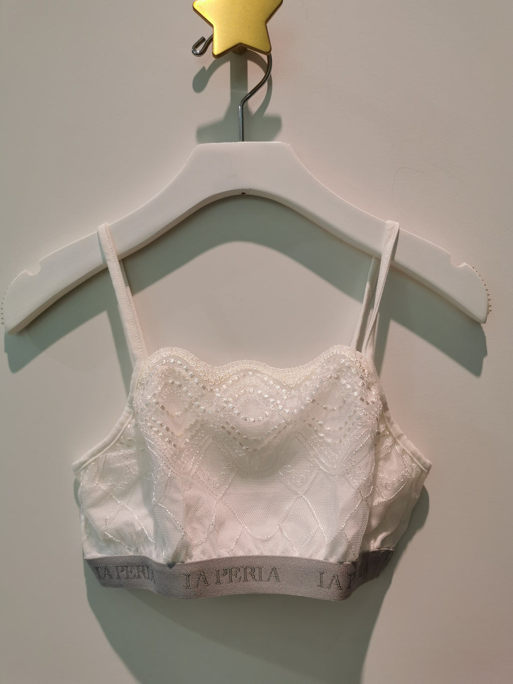 La Perla White Lace Bra Top