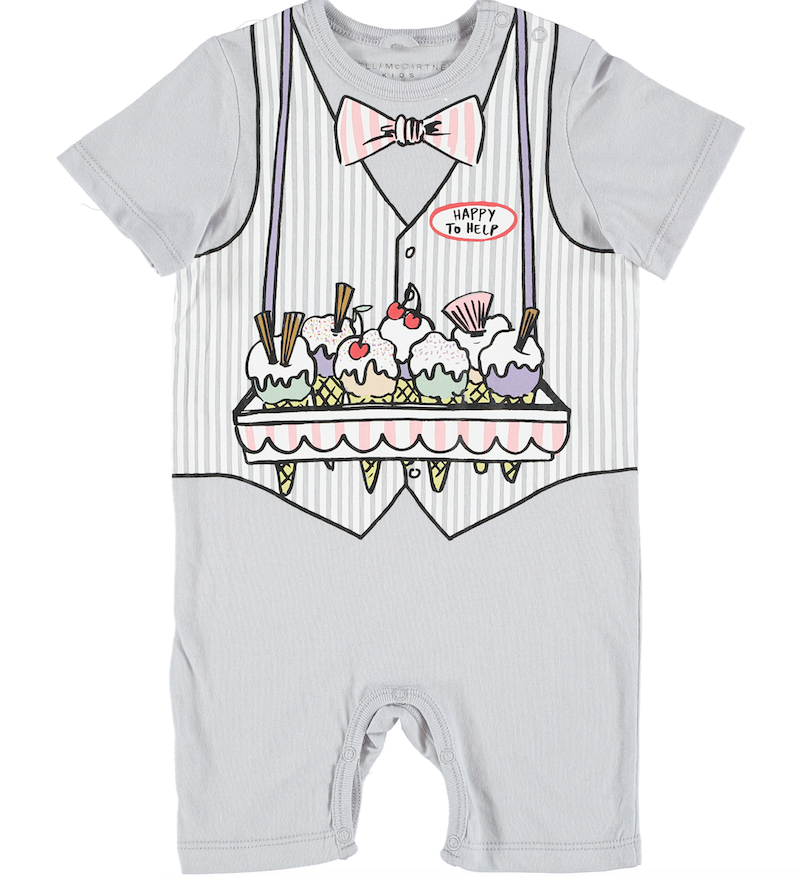 Stella Mccartney Baby Ice Cream Vest Print All in One