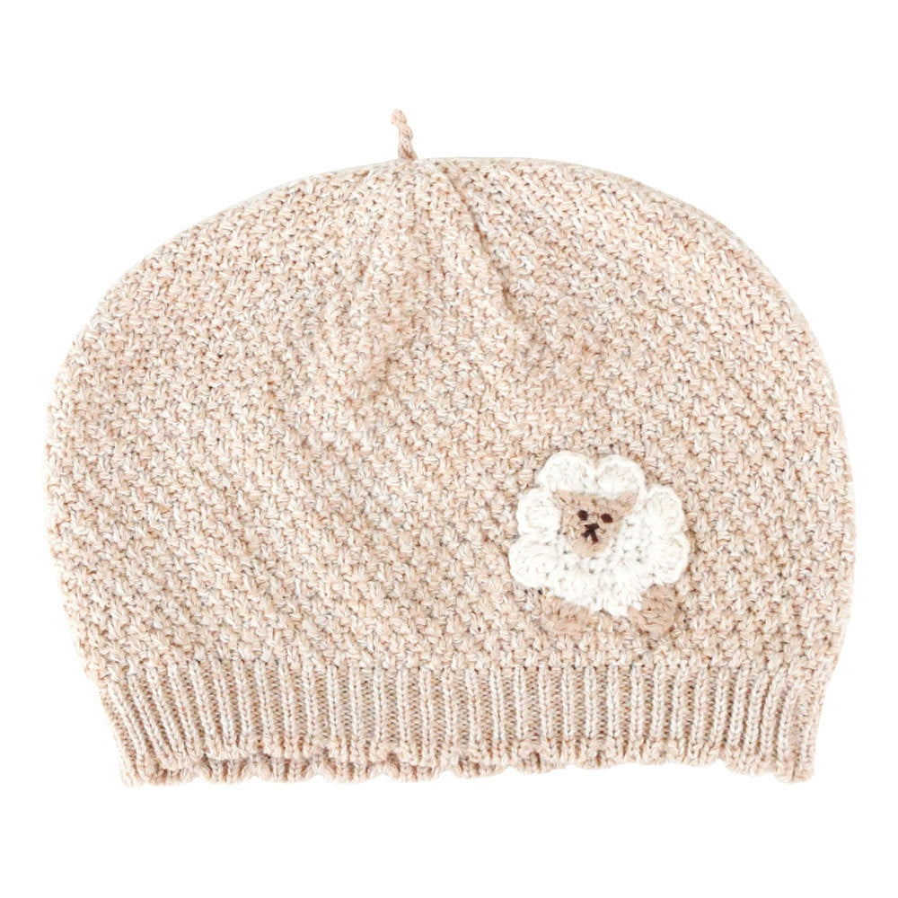 Hoppetta Organic Cotton Hat Beige Sheep Newborn-85cm