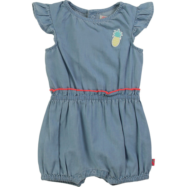 Billieblush Baby Girl Denim Romper