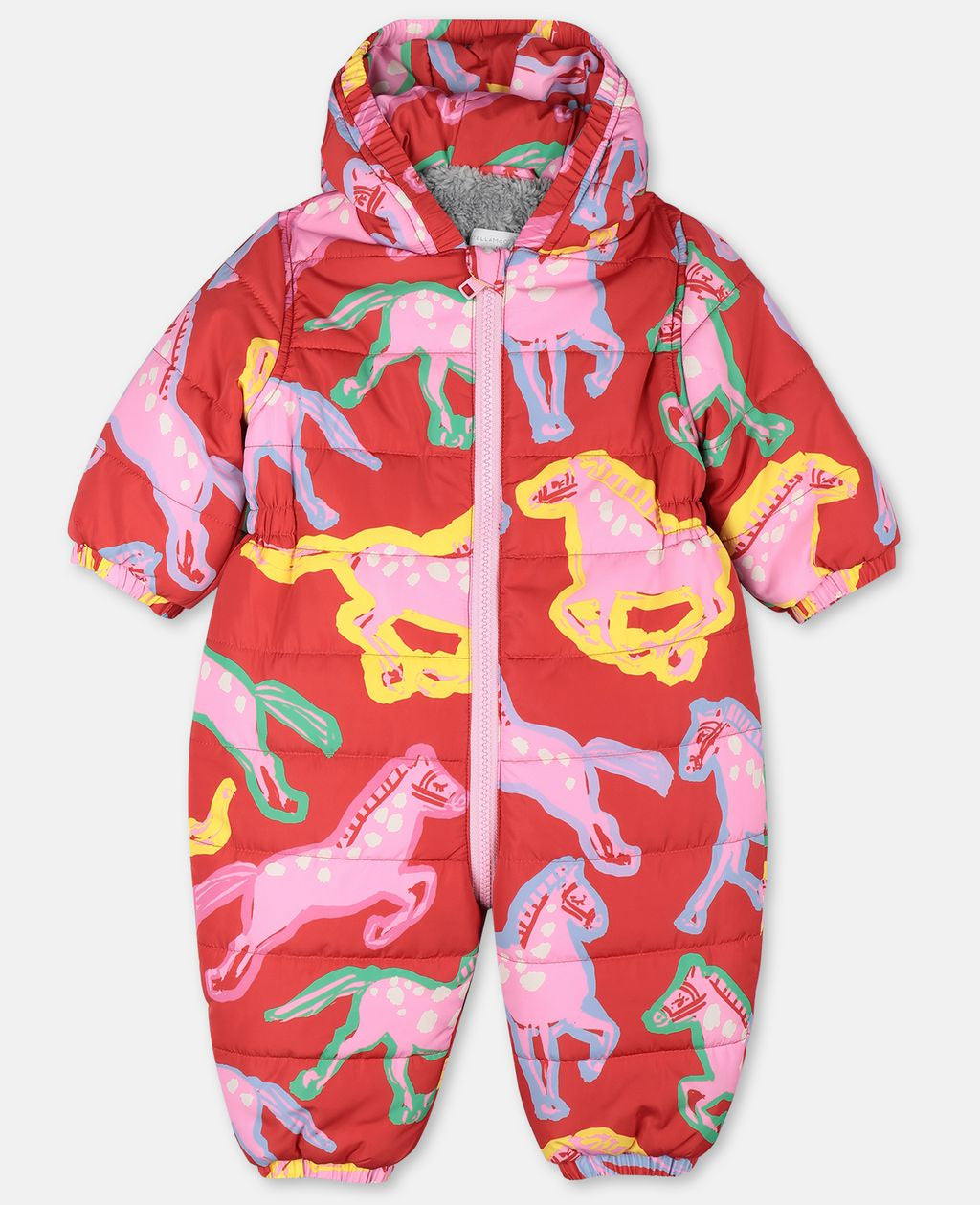 Stella McCartney Baby Painted Horses Puffer All in One