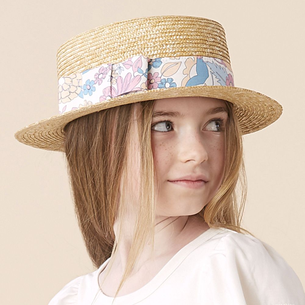 Chloé Straw Hat with Wide Stripe