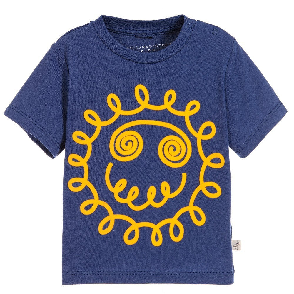 Stella McCartney Kids Chuckle with Smile Sun Face T Shirt